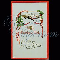 Antique Embossed Christmas Post Card, My Christmas Wish