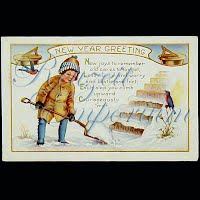 Antique 1919 New Year Post Card