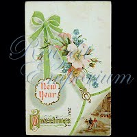 Antique 1909 New Year Post Card