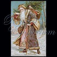 Antique Santa Christmas Post Card
