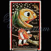 Antique Halloween Post Card