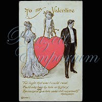 Antique 1910 Embossed Valentine Post Card, Antique 1910 Embossed Valentine PostCard, Antique 1910 Embossed Valentine PostCard, To My Valentine