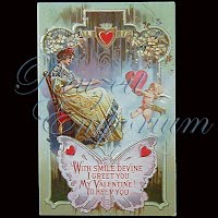 Antique 1921 Embossed Valentine PostCard, Antique 1921 Embossed Valentine Post Card, To My Valentine, A Token of Love