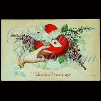 Antique Valentine Post Card, Antique Valentine PostCard, Valentine Greetings