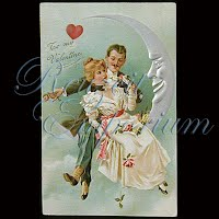 Antique 1908 Embossed Valentine Post Card, To My Valentine