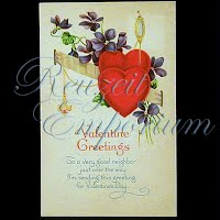 Antique Valentine Post Card, Valentine Greetings