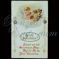 Antique Embossed Valentine Post Card, To My Sweetheart