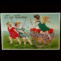 Antique Silk Valentine Post Card