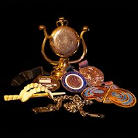 Antique and Vintage Watch Fobs and Belt Buckles