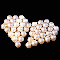 antique faux pearl dress clips