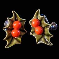 Vintage Holly Earrings