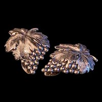 Antique Silver Grapes Dress Clips