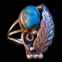 Vintage Handcrafted Turquoise and Silver Ring