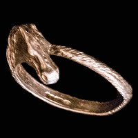 Vintage Handcrafted Horsehead Silver Ring