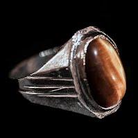 Vintage silver tiger eye ring
