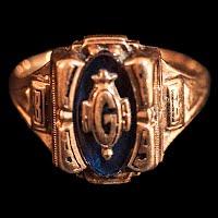 Vintage 1989 Class Ring, 10K