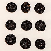 Antique Black Carved Buttons