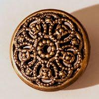 Antique Fillagree Metal Button