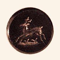 Antique Black Deer Button