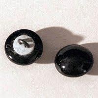 Antique Black Round Buttons
