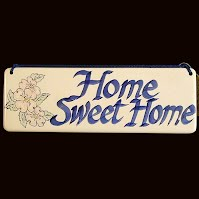 Vintage Home Sweet Home Plaque