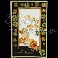 Antique Gel German Easter Post Card 1912