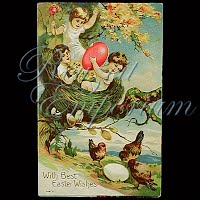 Antique Easter Post Card 1910