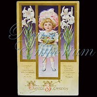 Antique Easter Post Card 1912