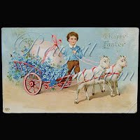 Antique German Gel Easter Postcard