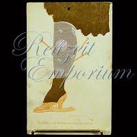 Antique Advertising Postcard, silk stockings 1909