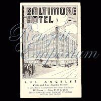 Antique Advertising Postcard, Baltimore Hotel