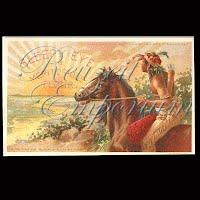 Antique Advertising Postcard, Sleepy Eye Flour