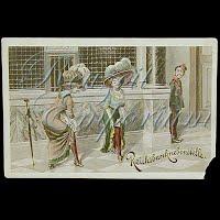 Antique Advertising German Postcard