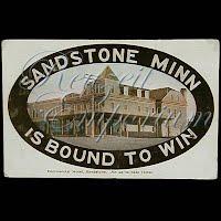 Antique Advertising Postcard, Sandstone Hotel