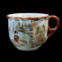 Antique Porcelain hand painted Japanese Cup