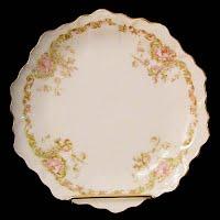 Antique Porcelain Bavarian Dessert Plates
