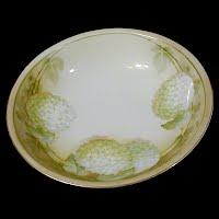 Antique Porcelain Hydranga Bowl, Reinhold Schlegllmilch