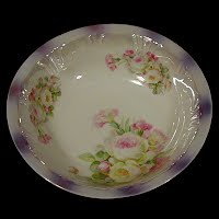 Antique Porcelain Flower Bowl  PK Silesia mark, Kronigszelt, Germany