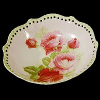 Antique Porcelain Rose Bowl, Germany