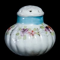Antique Porcelain Salt Shaker handpainted