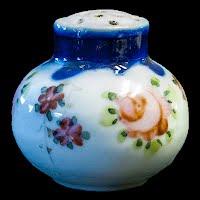 Antique Porcelain Hand Painted Salt Shaker