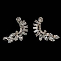 Antique Rhinestone Dress Clips
