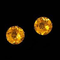 Vintage Sterling Czech Rhinestones Earrings