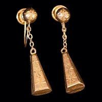 Vintage 18K gold Earrings