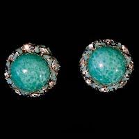 Vintage KaFin Cabochon Earrings