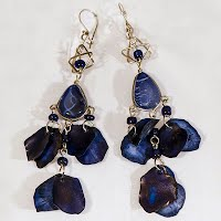 Vintage Blue and Silver Earrings