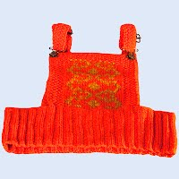Vintage Hand Knit Orange Sweater Vest