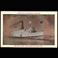 Antique Post Card, Colonial Navigation Company 1930