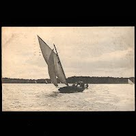 Antique Ship Transportation Post Card, Lake Mendoza, Minneapolis, Minn, Rorograph Publisher