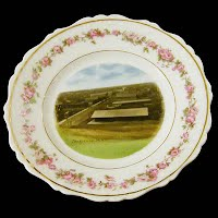 Antique hand painted porcelain 1890 Janesville, Minnesota plate